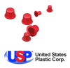 Red Tapered Vinyl Caps & Plugs by U.S. Plastic-Image