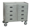 Stainless Steel Mobile Cabinet - 8 Drawers-Image