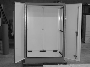 Fiberglass Pump Enclosure With Overlapping Doors-Image