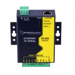 ES-020 Ethernet 1 Port RS232 10xScrew Terminals-Image
