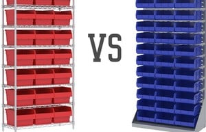 Wire Shelving vs Louvered Panels-Image