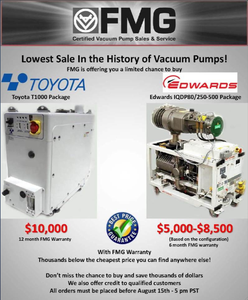 Lowest sale in vacuum pumps-Image
