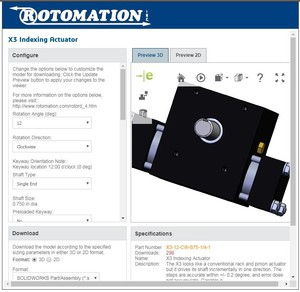 Online Configurator for Rotomation Actuators-Image