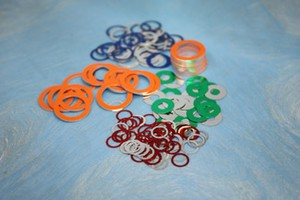 Color-Coded Precision Round Aluminum Washers-Image