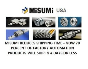 MISUMI REDUCES SHIPPING TIME -Image