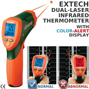 42509: Dual-Laser IR Thermometer w/Color Alert-Image