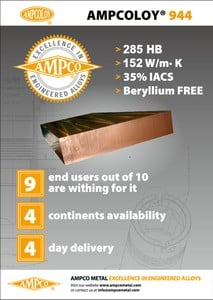 AMPCOLOY® 944: Beryllium Free Mold Material-Image