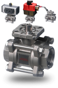 Stainless Steel, 3 Piece Ball Valve 36 Series -Image