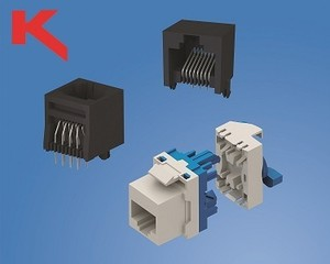 Modular Keystone RJ45 Jacks for PCBs & Panels-Image