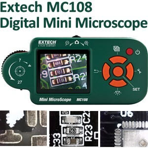 Versatile Extech Digital Mini Microscope & Camera -Image