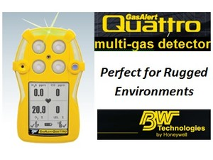 Simple, durable 4-gas monitor from BW Technologies-Image