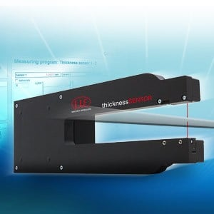 Laser-optical thickness measurement-Image