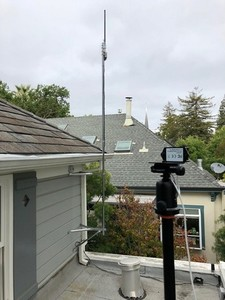 Sound-level meter installed on a rooftop -Image