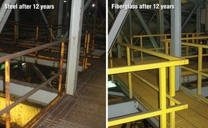 Fiberglass Outlasts Steel Years After Installation-Image