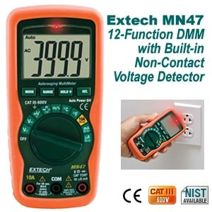 Versatile MN47 DMM & Non-Contact Voltage Detector-Image