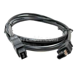 9-pin to 6-pin IEEE-1394 FireWire® 800/400 Cable-Image