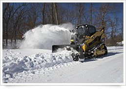 Snow removal with Earth Moving Machines-Image