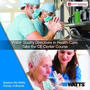 Water Quality in Health-Care: Take Our CE Course-Image