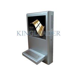 Wall mounted touchscreen kiosk with trackball-Image