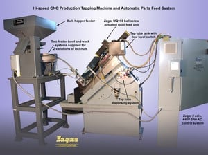 Hi-Speed, CNC Tap Machine & Auto Parts Feed System-Image