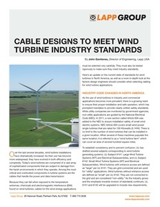 Cable Designs for Wind Turbine Industry Standards-Image
