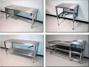 Stainless Steel Lift Tables - Model A-107P-SS-Image