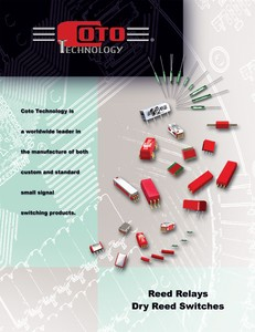 New Reed Relay & Reed Switch Catalog-Image