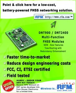 Low-cost, battery-powered FHSS networking solution-Image