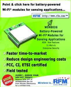 Battery-powered Wi-Fi modules for sensing apps-Image