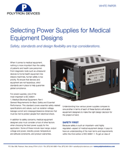 Selecting Power Supplies for Medical Equipment-Image