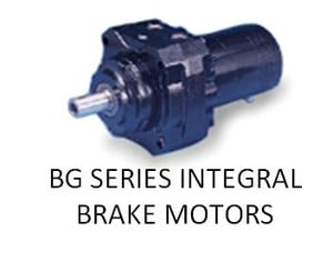 BG SERIES INTEGRAL BRAKE MOTORS -Image