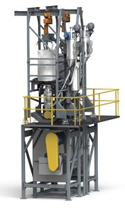 Bulk Bag Unloader Feeds Dry and Liquid Ingredients-Image