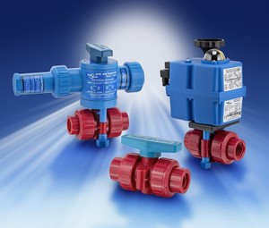 Red Kynar Ball Valves-Image