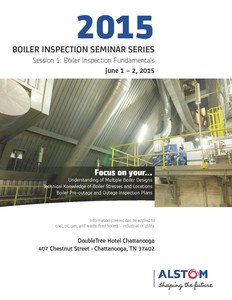 Boiler Inspection Seminar Series 2015-Image