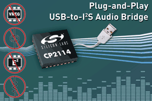 CP2114 Crystal-less USB-to-I2S Audio Bridge-Image