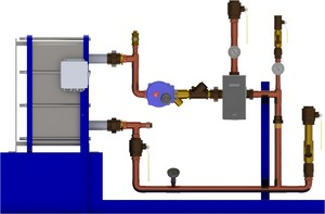 Digital-Flo Boiler Water to Water Heat Exchanger-Image