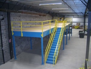 Pre Engineered Steel Mezzanines From Cubic Designs Inc