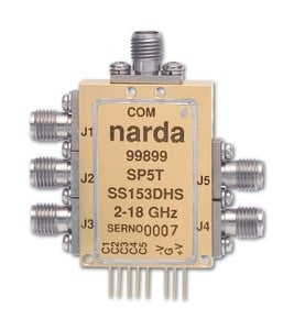 SP5T Reflective 18-GHz PIN-Diode Switch -Image