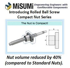 NEW Rolled Ball Screw Compact Nut Series-Image