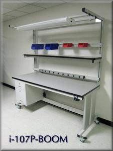Lift Table Workstation - Model i-107P-BOOM-Image