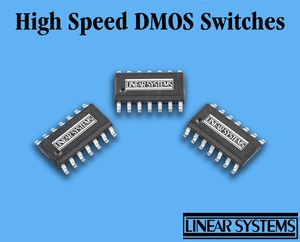 High Speed (2ns), SMT, Quad, DMOS FET Switch -Image