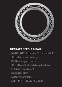 Aircraft Needle Amp Roller Bearings From Alpine Bearing Inc