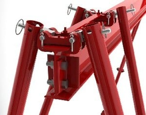 Tri-Adjustable Cranes...minimizes the stress -Image