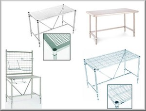 Stainless Steel ECONOMY Cleanroom Workbench Tables-Image