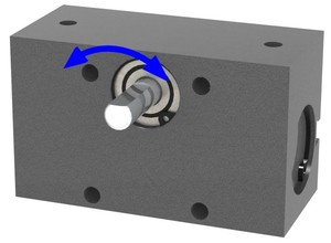 Compact, High Speed Pneumatic Rotary Actuator-Image