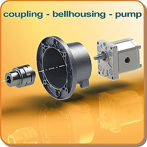 Pump motor bellhousing coupling packages from jbj for Motor and pump coupling