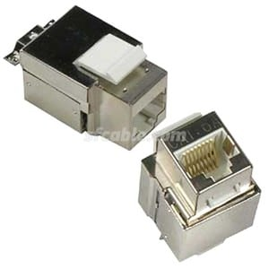 CAT6A RJ45 STP Shielded Keystone Jack-Image