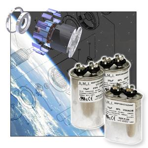 Oil-Filled, Self-Healing AC Motor Run Capacitors from New