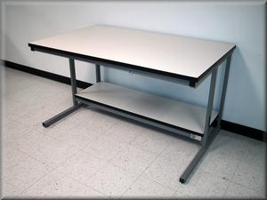 Recessed Front Leg Table - Model C-109P-Image