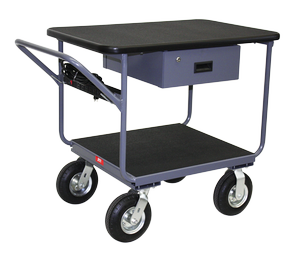 Instrument Cart - 2 Shelves, Drawer, Powerstrip-Image